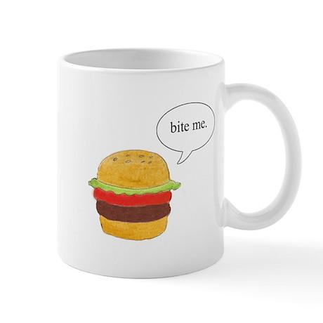 Bite Me Burger Mug