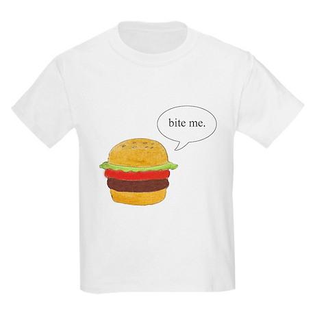 Bite Me Burger Kids Light T-Shirt