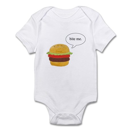 Bite Me Burger Infant Bodysuit