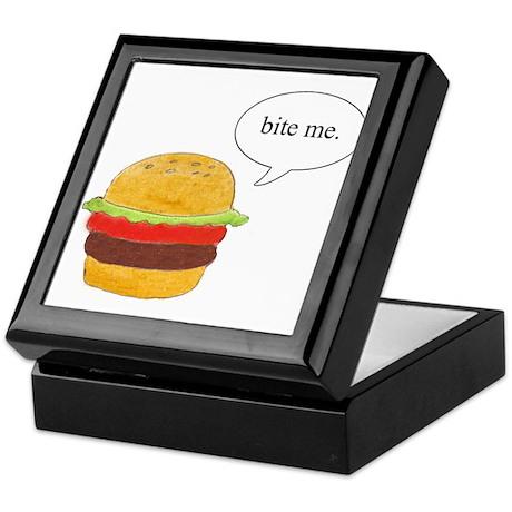 Bite Me Burger Keepsake Box