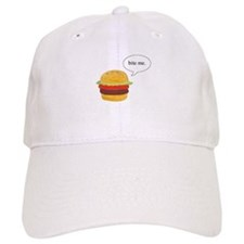Bite Me Burger Baseball Cap