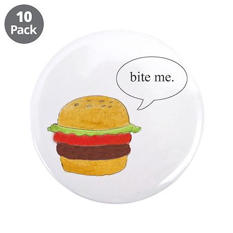 "Bite Me Burger 3.5"" Button (10 pack)"