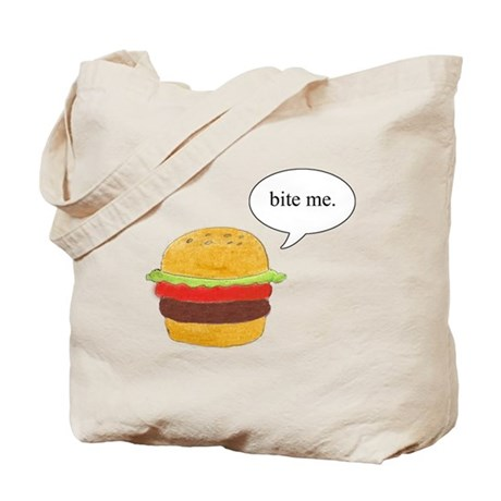 Bite Me Burger Tote Bag