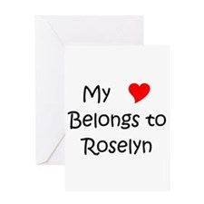 Roselyn Greeting Card