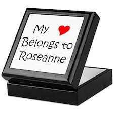 Unique My heart belongs roseanne Keepsake Box