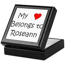 Cute My heart belongs roseanne Keepsake Box