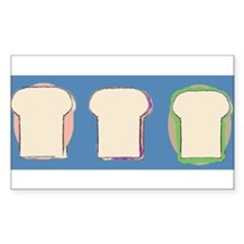 3 yummy sandwiches Rectangle Decal