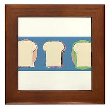 3 yummy sandwiches Framed Tile