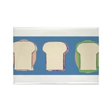 3 yummy sandwiches Rectangle Magnet