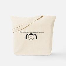 Girl's Face Tote Bag