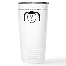 Girl's Face Travel Mug