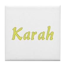 Karah in Gold - Tile Coaster