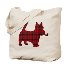Scottish Terrier Tartan Tote Bag