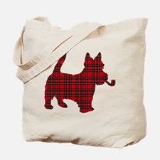 Scottish Terrier Tartan Tote Bag