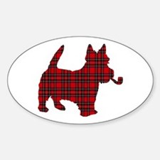 Scottish Terrier Tartan Oval Decal