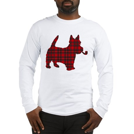 Scottish Terrier Tartan Long Sleeve T-Shirt