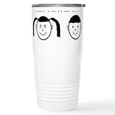Boy and Girl Face Travel Mug