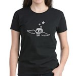 Peace & Love Skull with Wings Women's Dark T-Shirt