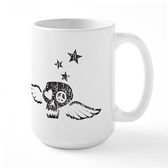 Peace & Love Skull with Wings Mug