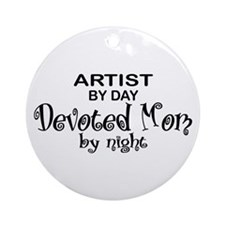 Artist Devoted Mom Ornament (Round)