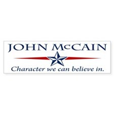 John McCain Character Bumper Bumper Sticker