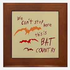 Bat Country Framed Tile