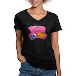 Happy 2nd Birthday Women's V-Neck Dark T-Shirt