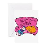 Happy 2nd Birthday Greeting Card