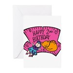 Happy 2nd Birthday Greeting Cards (Pk of 10)