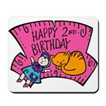 Happy 2nd Birthday Mousepad