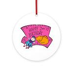 Happy 2nd Birthday Ornament (Round)