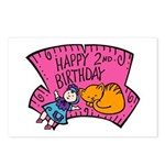 Happy 2nd Birthday Postcards (Package of 8)