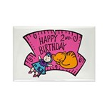 Happy 2nd Birthday Rectangle Magnet (100 pack)