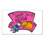 Happy 2nd Birthday Rectangle Sticker