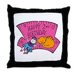 Happy 2nd Birthday Throw Pillow
