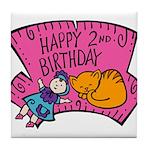 Happy 2nd Birthday Tile Coaster