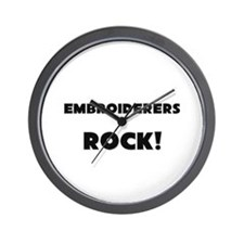 Embroiderers ROCK Wall Clock