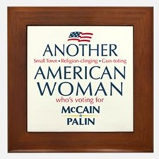 American Woman for McCain Palin Framed Tile