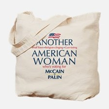American Woman for McCain Palin Tote Bag