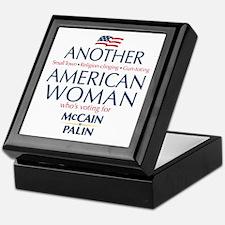 American Woman for McCain Palin Keepsake Box