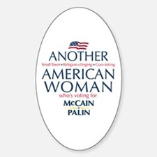 American Woman for McCain Palin Oval Decal