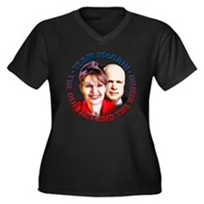 Sarah Palin, huh? Women's Plus Size V-Neck Dark T-