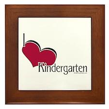 I Love Kindergarten Framed Tile