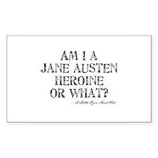 Jane Austen Quote Rectangle Decal