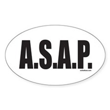 A.S.A.P. Oval Decal