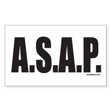 A.S.A.P. Rectangle Decal
