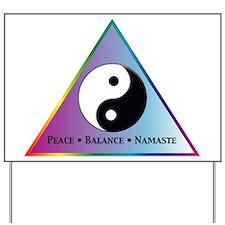 Peace, Balance, Namaste Yard Sign