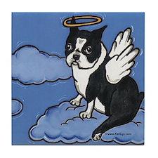 The Angel Boston Terrier Tile Coaster