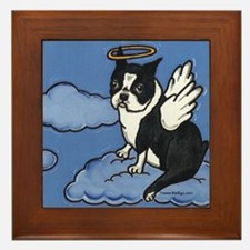 Boston Terrier Angel Framed Tile