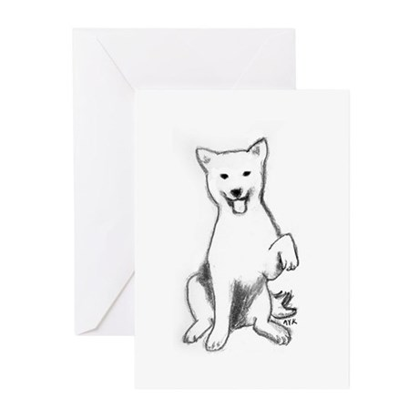 sketch_paw3 Greeting Cards